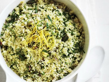 Lemon pistachio couscous