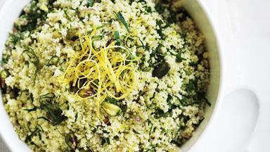 Lemon pistachio couscous