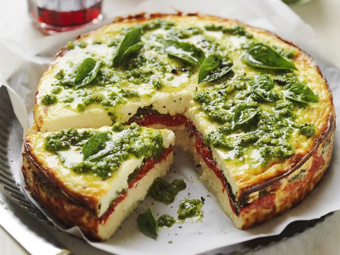 "**[Ricotta and capsicum bake](https://www.womensweeklyfood.com.au/recipes/ricotta-and-capsicum-bake-9119|target=""_blank"")**"