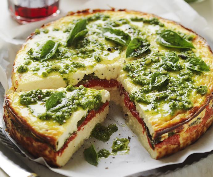 ricotta and capsicum bake