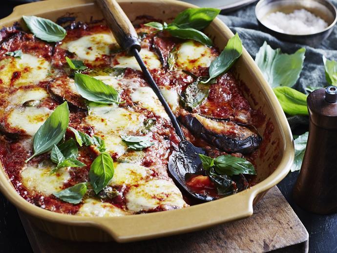 "[Eggplant parmigiana](https://www.womensweeklyfood.com.au/recipes/eggplant-parmigiana-1-9140|target=""_blank"")"