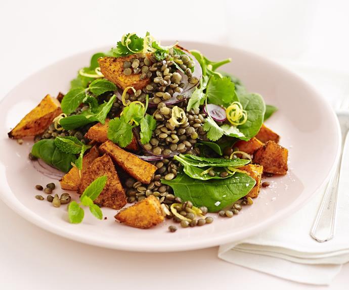 moroccan lentil and kumara salad