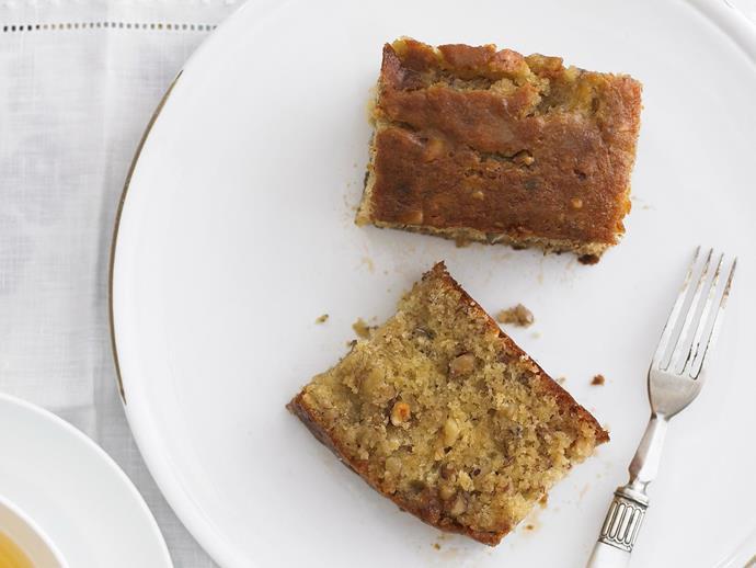 """**[Banana butterscotch syrup cake](https://www.womensweeklyfood.com.au/recipes/banana-butterscotch-syrup-cake-9205 target=""""_blank"""")**  For the perfect sweet treat, enjoy a slice of this fluffy banana and hazelnut cake drizzled in hot butterscotch syrup."""