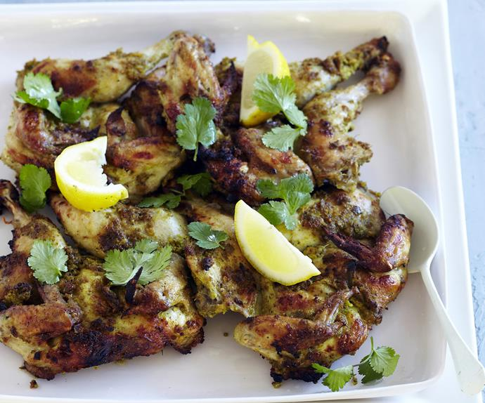spiced roasted chickens with coriander
