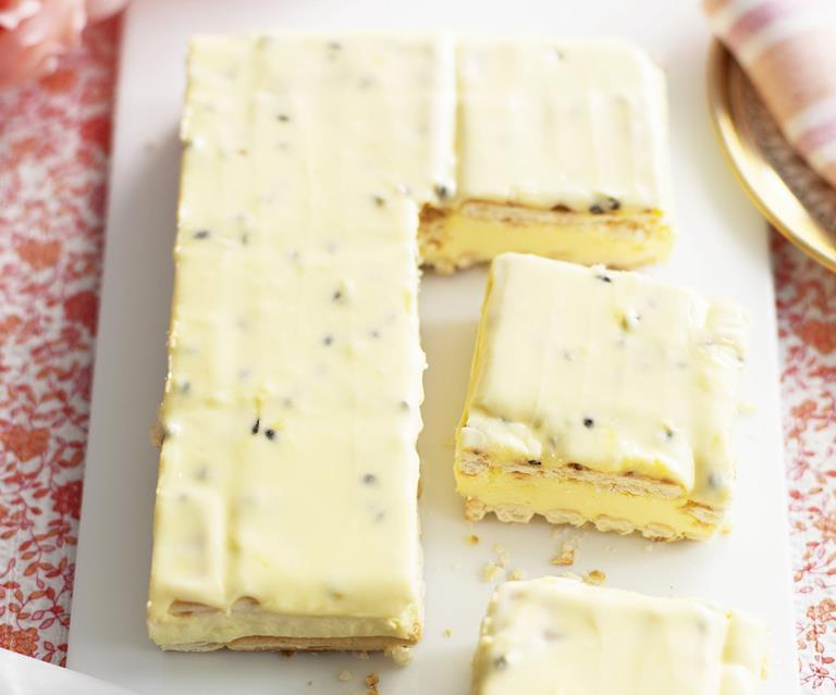Lattice Slice With Passionfruit Icing Australian Women S Weekly Food