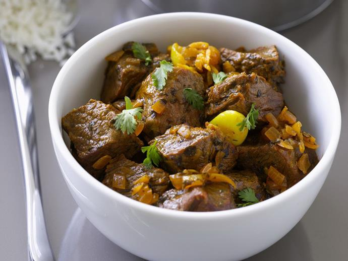"**[Indian dry beef curry](https://www.womensweeklyfood.com.au/recipes/indian-dry-beef-curry-8644|target=""_blank"")**"