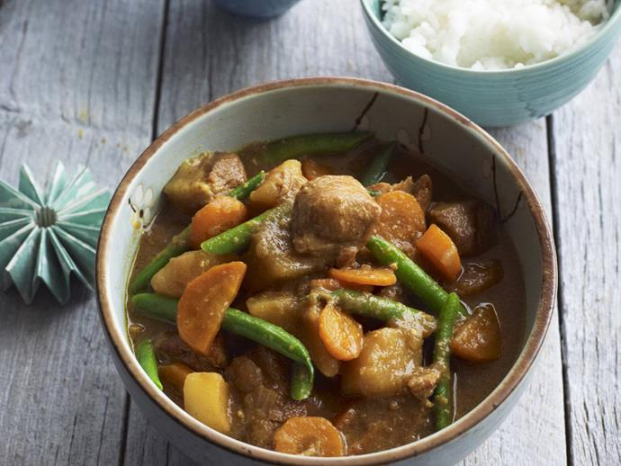 "**[Pork curry](https://www.womensweeklyfood.com.au/recipes/pork-curry-3527|target=""_blank"")**"