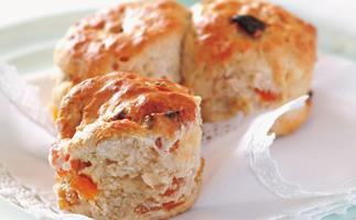 Apricot and almond scones