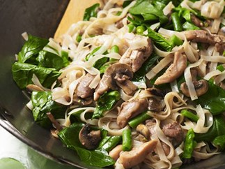 CHICKEN AND SPINACH NOODLES