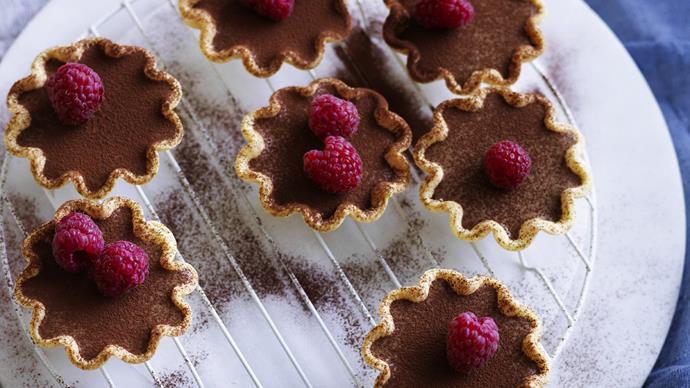 drunken mocha mousse tartlets