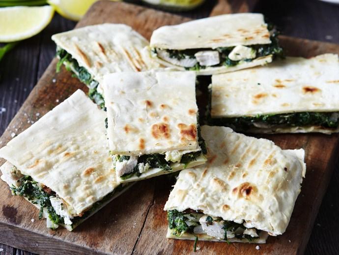 chicken, spinach and cheese gözleme
