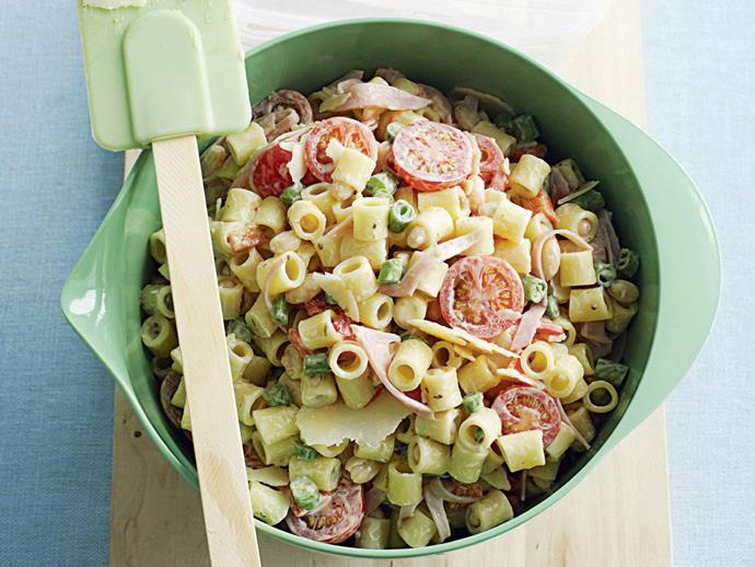 "**[Pasta salad](https://www.womensweeklyfood.com.au/recipes/pasta-salad-3591|target=""_blank"")**"