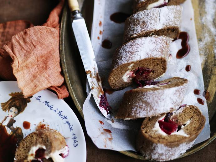 "[Spiced sponge and rhubarb roulade recipe.](http://www.foodtolove.com.au/recipes/spiced-sponge-and-rhubarb-roulade-30287|target=""_blank"")"