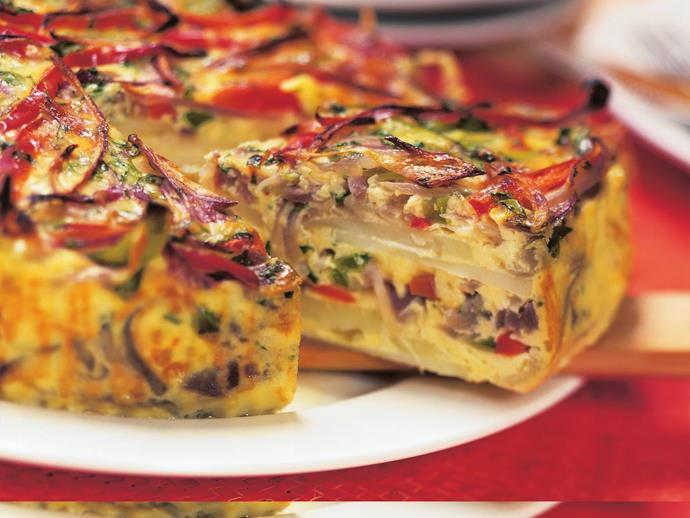 """**[Chilli and vegetable frittata](https://www.womensweeklyfood.com.au/recipes/chilli-and-vegetable-frittata-8394