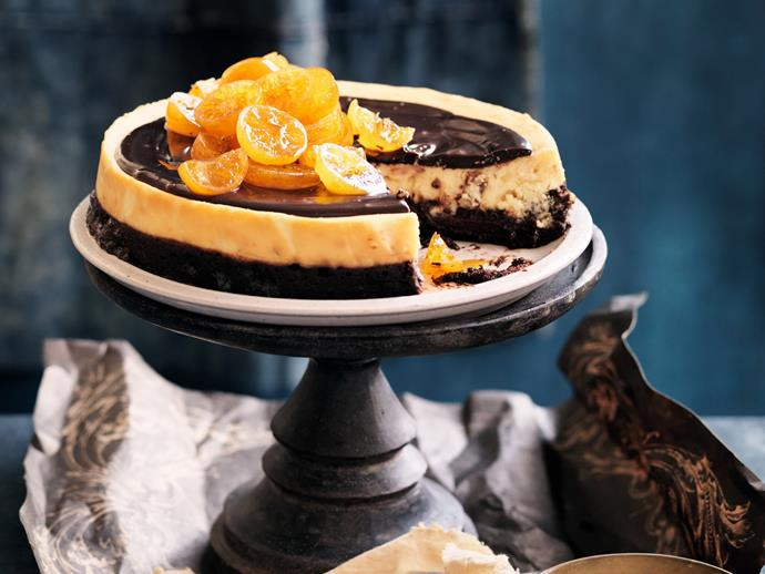 "**[Chocolate ricotta cheesecake with candied fruit](https://www.womensweeklyfood.com.au/recipes/chocolate-ricotta-cheesecake-with-candied-fruit-3357|target=""_blank"")**"
