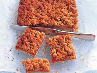 apricot crumble slice