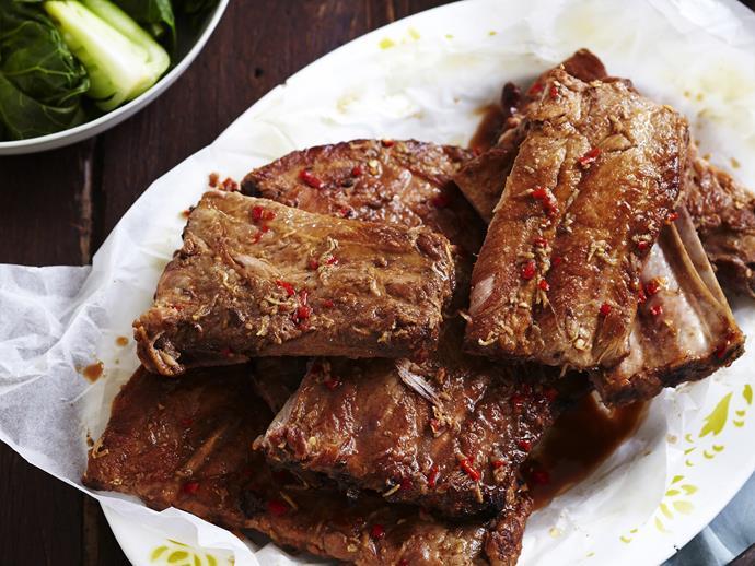 "**[Slow-cooked char siu pork ribs](https://www.womensweeklyfood.com.au/recipes/slow-cooked-char-siu-pork-ribs-3385 target=""_blank"")**"