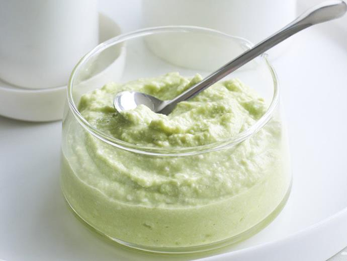 "**[Tofu and avocado dressing](https://www.womensweeklyfood.com.au/recipes/tofu-and-avocado-dressing-8503 target=""_blank"")**"