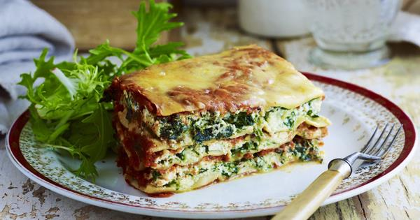 Image result for spinach ricotta lasagna