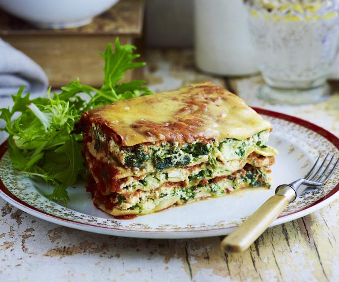 spinach and ricotta lasagne