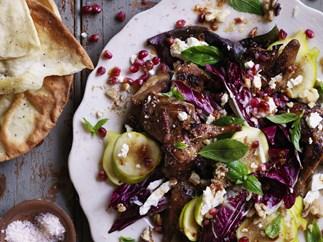 persian quail, fig & pomegranate salad