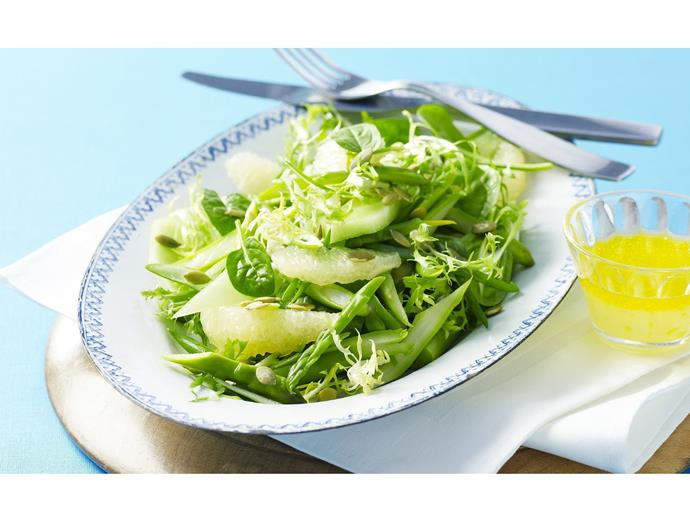 "**[Grapefruit, honeydew and baby endive salad](https://www.womensweeklyfood.com.au/recipes/grapefruit-honeydew-and-baby-endive-salad-3466|target=""_blank"")**"