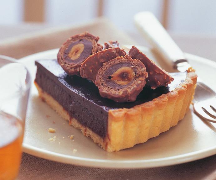 chocolate jaffa tart