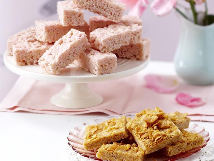 "**[Crunchy honey cornflake squares](http://www.womensweeklyfood.com.au/recipes/crunchy-honey-cornflake-squares-8041|target=""_blank"")**"