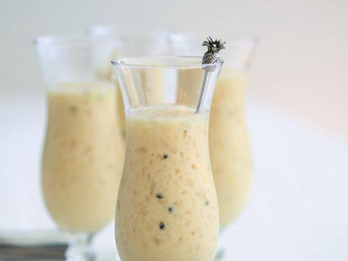 "**[Passionfruit piña colada](https://www.womensweeklyfood.com.au/recipes/passionfruit-pina-colada-3475|target=""_blank"")**  Do you like piña coladas?"