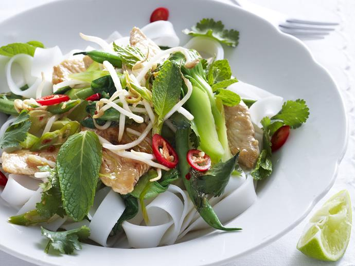 "**[Stir-fried thai chicken](https://www.womensweeklyfood.com.au/recipes/stir-fried-thai-chicken-3238|target=""_blank"")**"