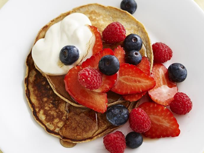 "[Buckwheat pancakes with balsamic strawberries](http://www.womensweeklyfood.com.au/recipes/buckwheat-pancakes-with-mixed-berries-8106|target=""_blank"")"