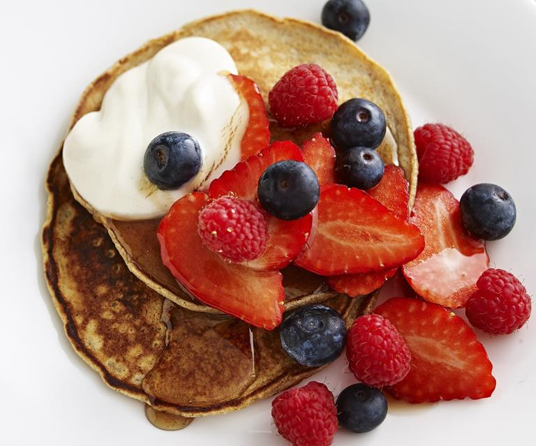 Buckwheat Pancakes With Mixed Berries Australian Women S Weekly Food