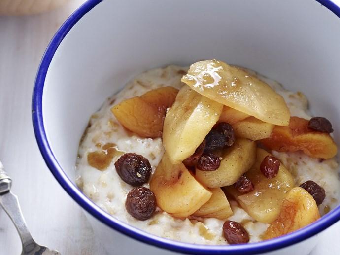 porridge with apple compote