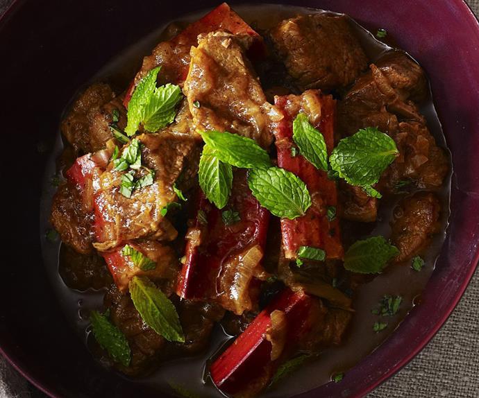 persian lamb and rhubarb stew