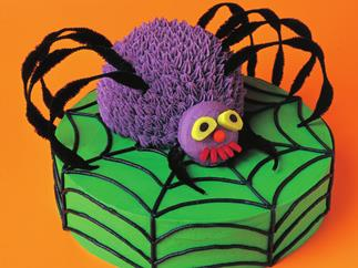 creepy crawly spider cake