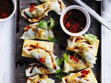 16 delicious dumplings for dinner