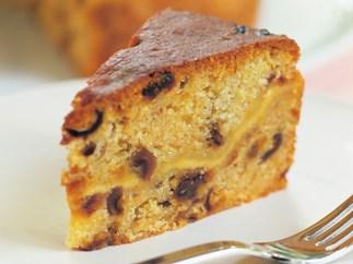 date, ricotta and polenta cake