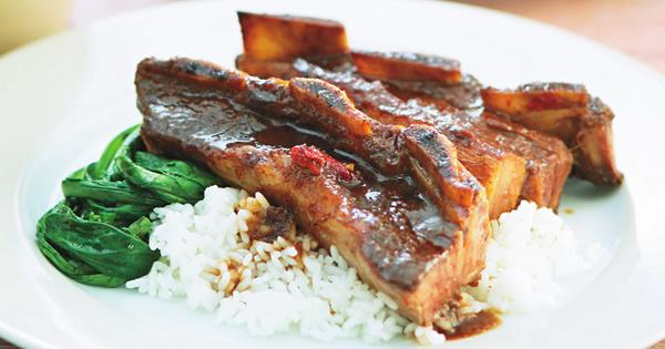 Hoisin-braised short ribs