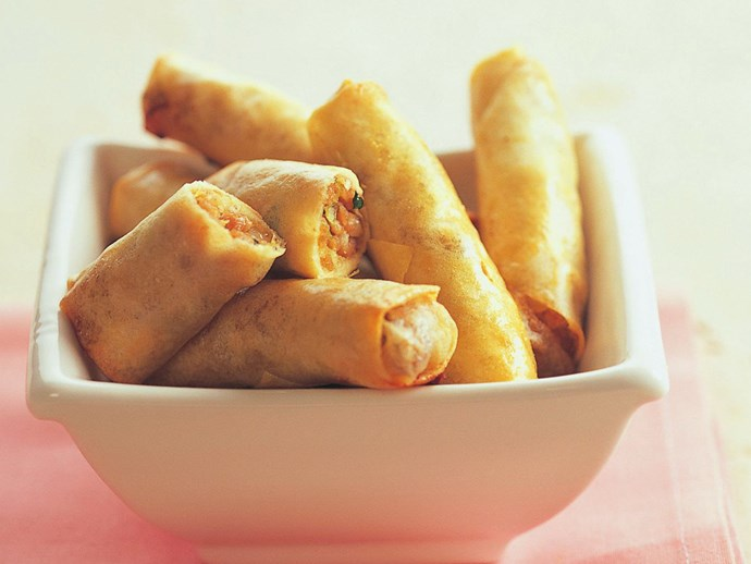 oven-baked spring rolls