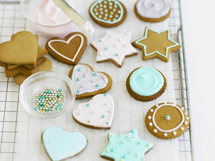 "**[Gingerbread biscuits](https://www.womensweeklyfood.com.au/recipes/gingerbread-biscuits-8330|target=""_blank"")**  Spiced with ginger, cinnamon and clove these sweet biscuits can be cut into a variety of shapes and decorated with icing and cachous."