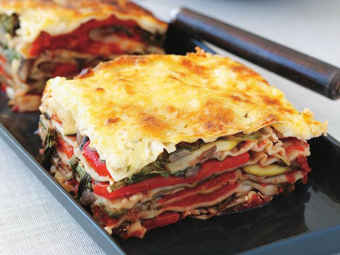 "**[Cottage cheese lasagne](https://www.womensweeklyfood.com.au/recipes/cottage-cheese-lasagne-7782|target=""_blank"")**"