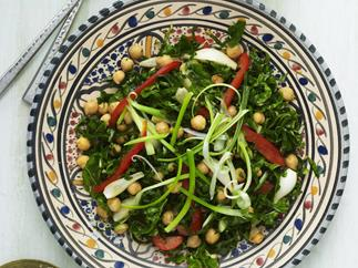Chickpea and silver beet salad