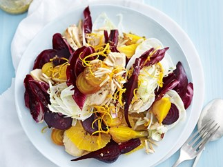 roasted beetroot, orange and char-grilled chicken salad