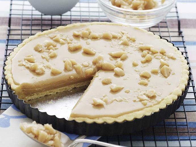 "This decadent [butterscotch pie](https://www.womensweeklyfood.com.au/recipes/butterscotch-pie-14669|target=""_blank"") will satisfy the cravings of any sweet tooth. The only problem with this luscious dish is trying to decide whether to serve it with lashings of whipped cream, or ice-cream."