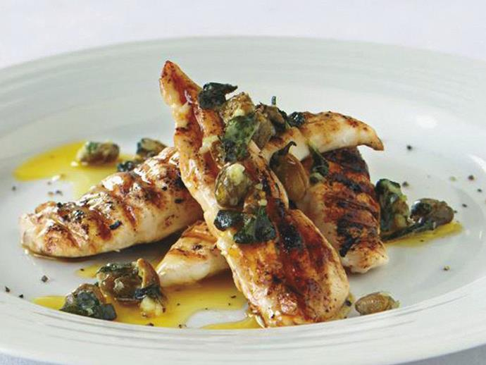 """**[Barbecued chicken with garlic and caper butter](https://www.womensweeklyfood.com.au/recipes/barbecued-chicken-with-garlic-and-caper-butter-16342