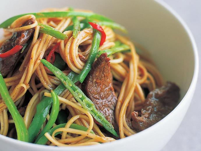 """This [spicy lamb noodle stir-fry](https://www.womensweeklyfood.com.au/recipes/spicy-lamb-noodle-stir-fry-7861