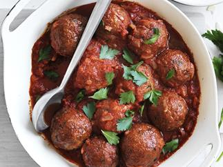 spanish spicy pork and veal meatballs