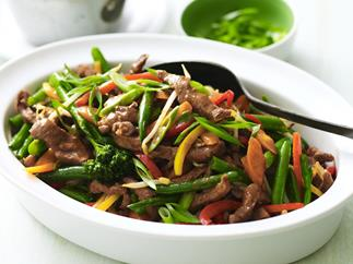 stir-fry hoisin lamb and vegetables