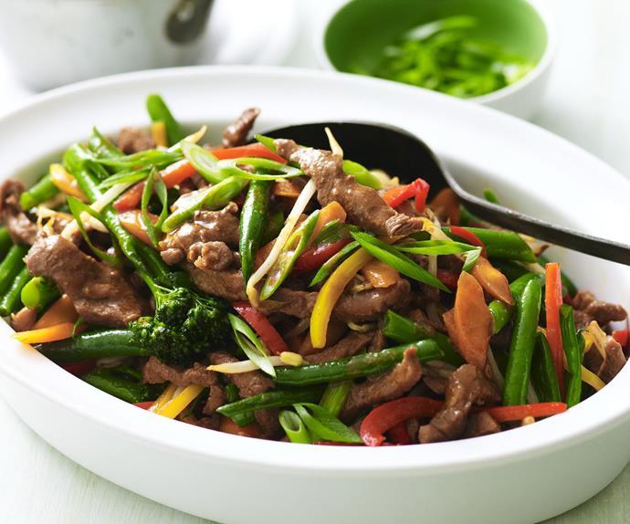 stir-fry hoisin lamb and vegetables