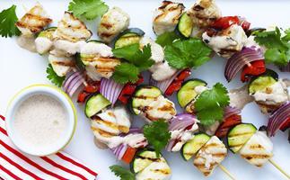 grilled fish kebabs